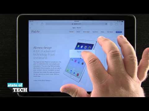iPad Air Quick Tips - Save Photos from Safari