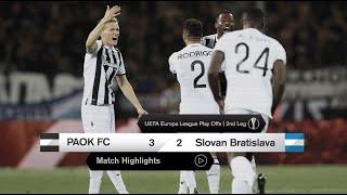 Τα στιγμιότυπα του ΠΑΟΚ-SK Slovan Bratislava - PAOK TV