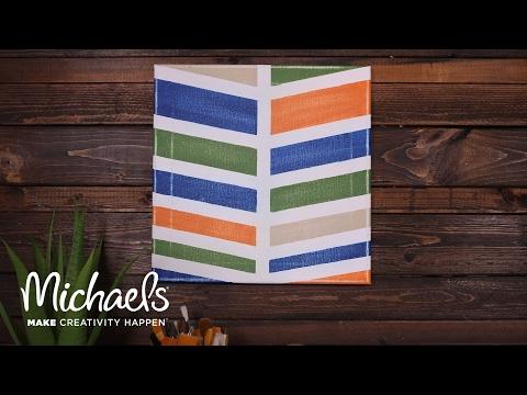 DIY Chevron Painted Canvas | Michaels
