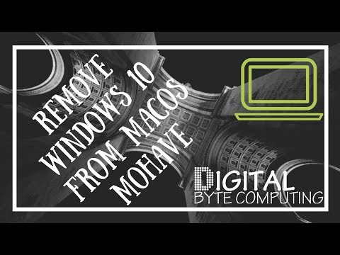 How to Remove Windows 10 from macOS Mojave 10.14 | using Bootcamp
