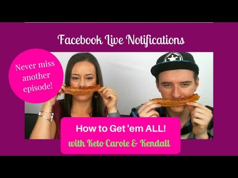 How to Sign up for LIVE Facebook Notifications