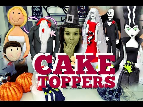 HALLOWEEN THEMED FONDANT BRIDE FIGURINE CAKE TOPPER | PART 1 ! | BY VERUSCA WALKER