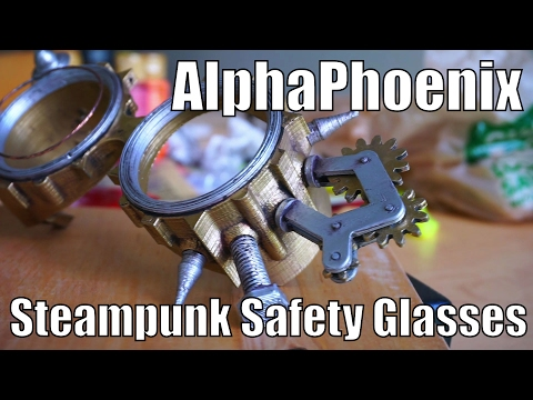 DIY 3D printed steampunk safety glasses