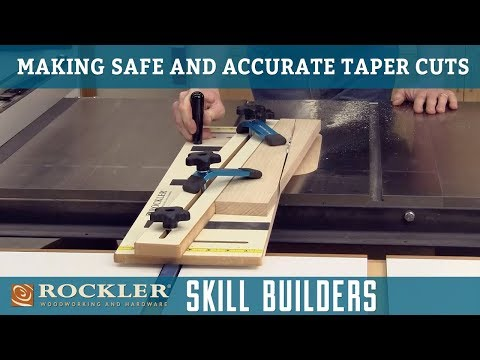 How to Make Safe Taper Cuts Using a Table Saw | Rockler Skill Builder