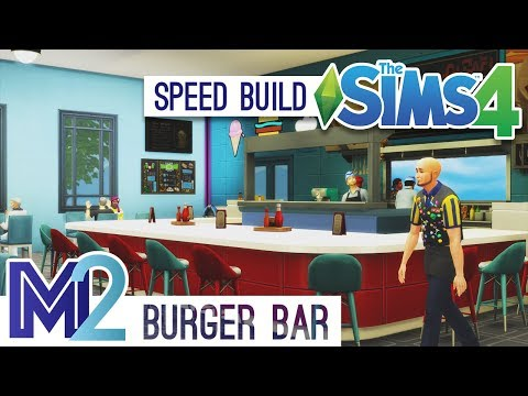 Sims 4 Speed Build - Diner & Burger Bar