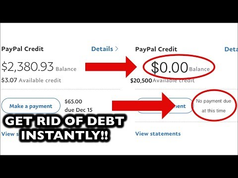 HOW TO GET RID OF CREDIT CARD DEBT *INSTANTLY*