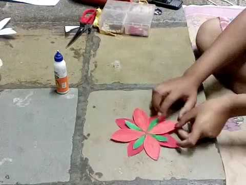 How to make paper flower for stage decoration