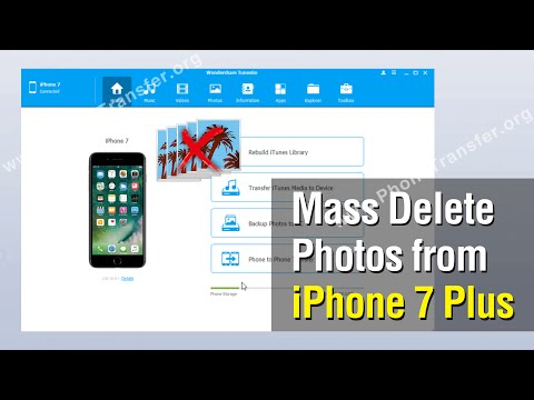 How to Mass Delete Photos from iPhone 7 Plus