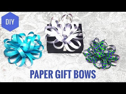 How To Make Paper Gift Bow In 5 Minutes - DIY Gift Bows Out Of Printer Sheet
