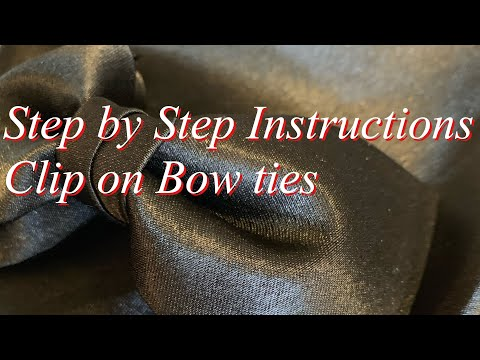 How to Make Clip-on Bow-Ties