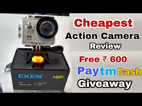 #CASH GIVEAWAY... 📷 Cheapest Action Camera Review, Get free PayTm Cash, Best 📷 Quality....?