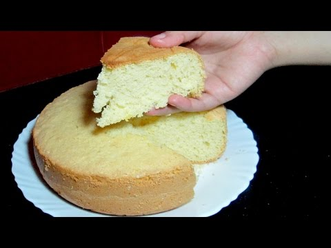 Sponge Cake without Oven - Basic Soft Sponge Cake - Pressure Cooker Sponge Cake Recipe