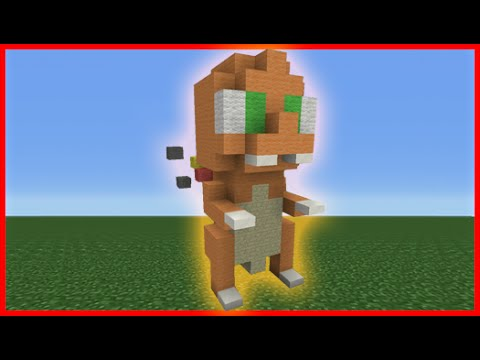 Minecraft Tutorial: How To Make A Mini Charmander Plush Statue