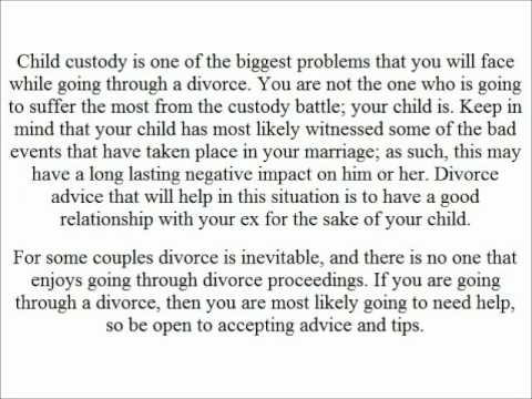 where to get help if your going thru a divorce