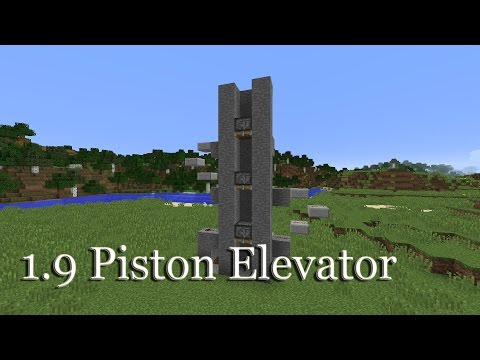 Minecraft 1.9/1.10 Super Fast Piston Elevator (Created by Etho)