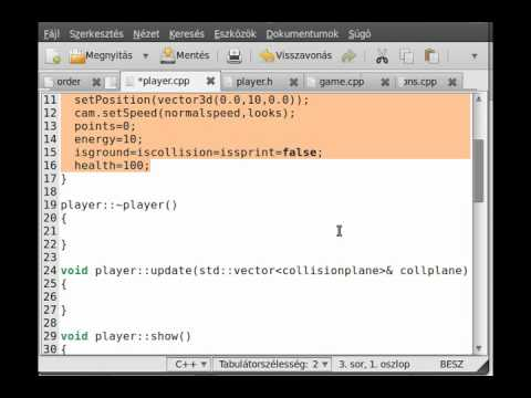 FPS game (OpenGL,SDL,C++) tutorial 6 - create the player class