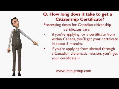 How long does it take to get a Citizenship Certificate?