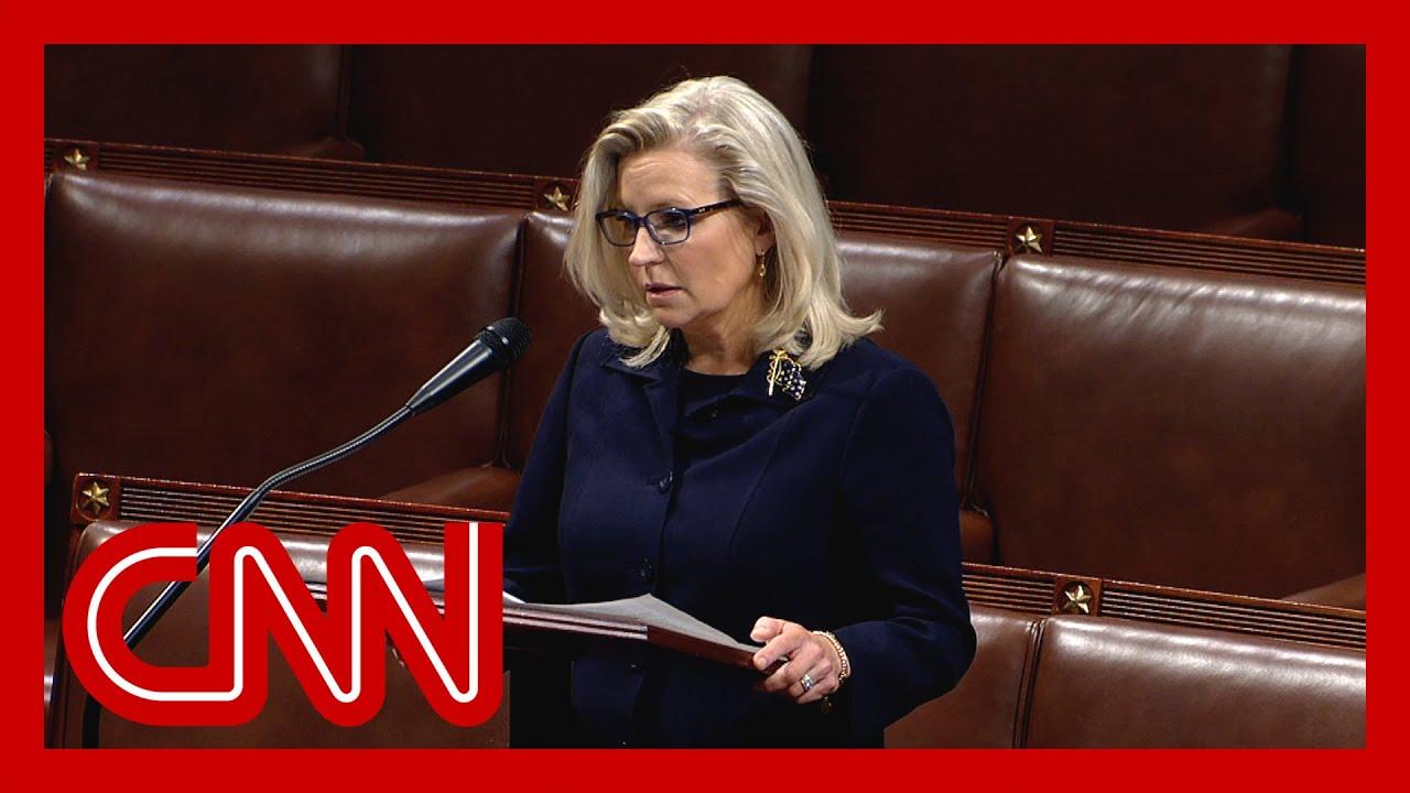 Watch Liz Cheney speak ahead of vote tomorrow to oust her
