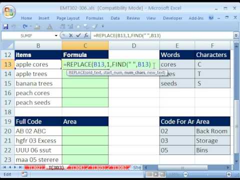 Excel Magic Trick 303: VLOOKUP from middle of text-string