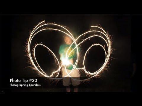 Photo Tip #20 - Sparkler Photos - Long Exposure Light Painting