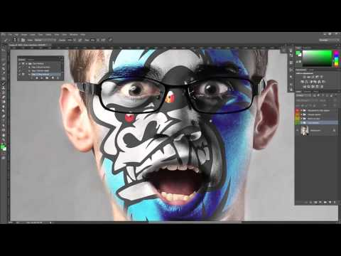 Face Painting photoshop action