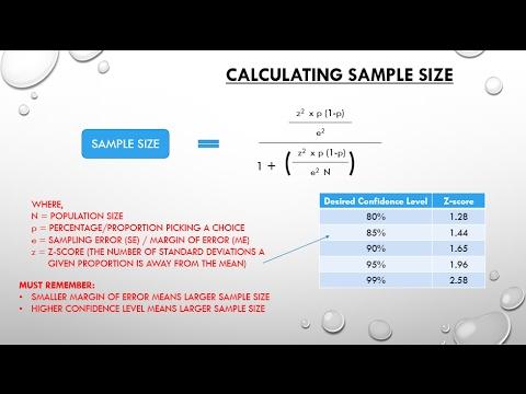 1.4 Determine Sample Size