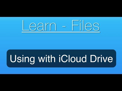 Files for iOS Tutorial: Using with iCloud Drive