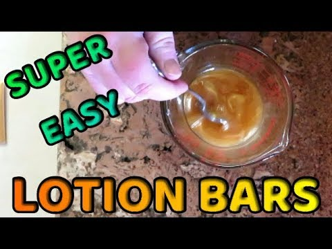 HOW TO MAKE LOTION BARS - SUPER EASY