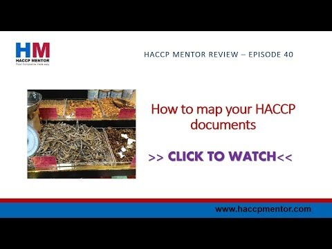 How to map your HACCP documents