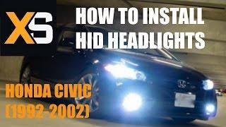 Diy Hid Xenon Install Honda Civic 1992 2002