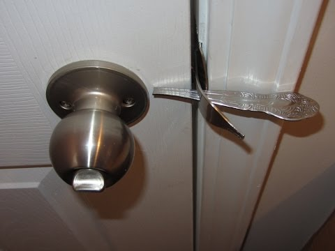 DINNER FORK DOOR LOCK