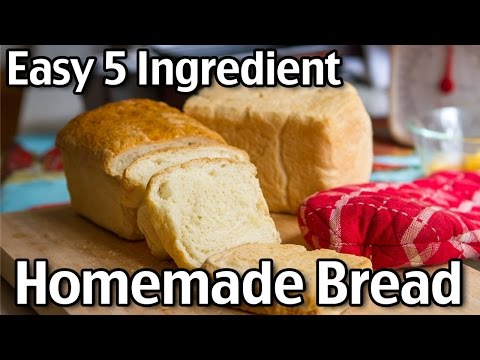 Easy 5 Ingredient Homemade Bread