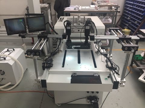 Conductive silver paste screen printing machine with CCD camera PHP-2525B