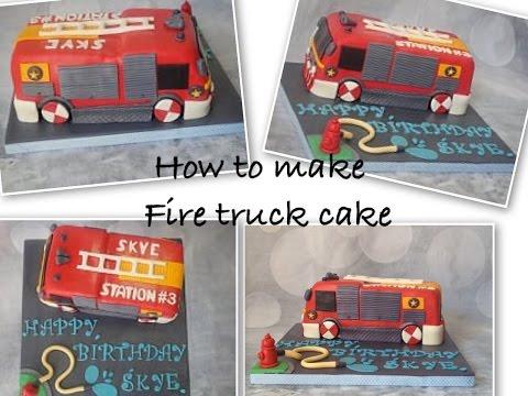 HOW TO: make fire truck cake/ ทำเค้กรถดับเพลิง ไม่ยากอย่างที่คิด🍰🚒😍🇹🇭