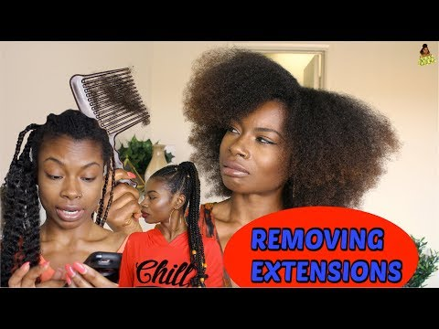 THE TAKE DOWN (HOW I REMOVE MY HAIR EXTENSIONS)