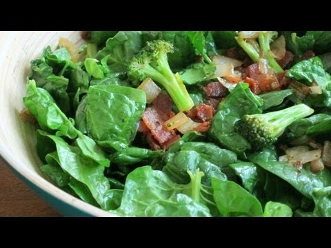 How to Make Bacon Spinach Salad | HilahCooking