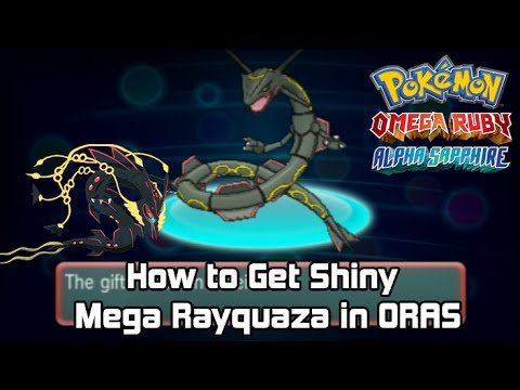How to get Event Shiny Mega Rayquaza in Pokémon Omega Ruby & Alpha Sapphire [ORAS]  Tutorial.