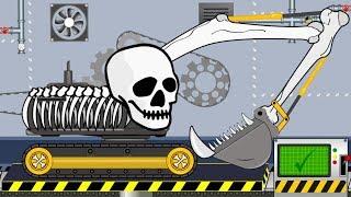 Excavator Skeleton Halloween | Toy Factory | Video for Kids - Koparka szkieletor na Halloween