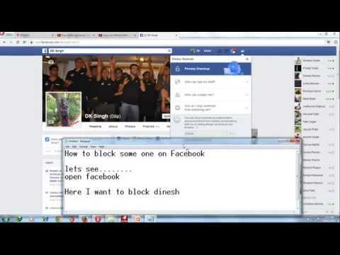 How to block friend on Facebook/ Blocking on facbook