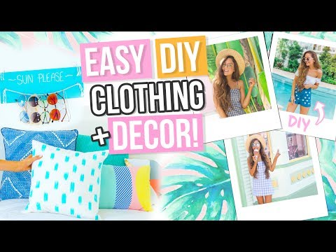Easy DIY ROOM DECOR + Clothing For Spring / Summer! + Cute Outfit & Glasses Ideas 2017!