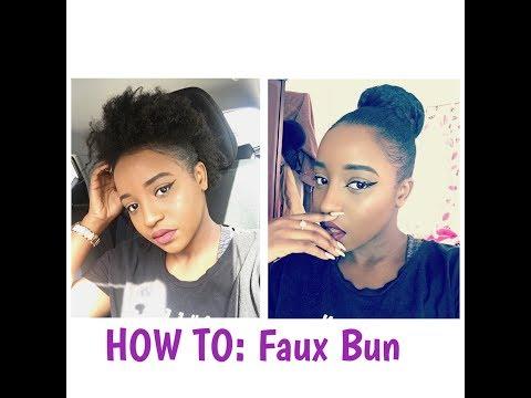 HOW TO: Sleek Faux Bun On Short 4C Natural Hair