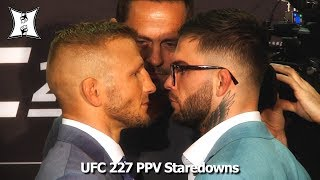 UFC 227 Staredowns: Dillashaw, Garbrandt, Johnson, Cejudo + All PPV Main Card Fighters