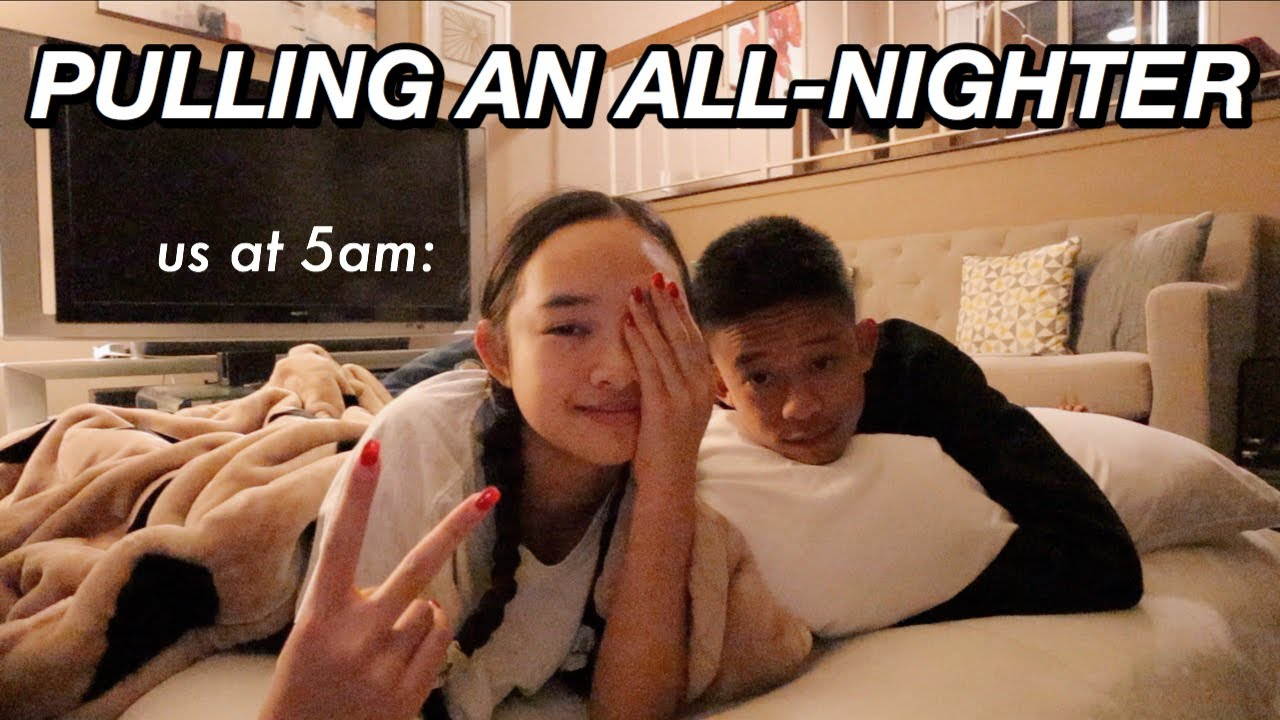 PULLING AN ALL-NIGHTER WITH MY BROTHER | Nicole Laeno