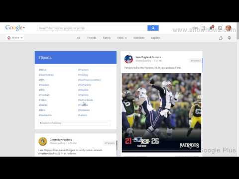 Google+ - How To See Sports Posts On Google Plus