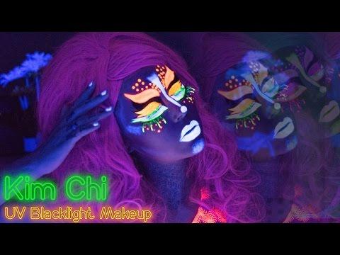 Kim Chi // RuPaul's Drag Race Inspired Neon UV Blacklight Makeup | KristenLeanneStyle