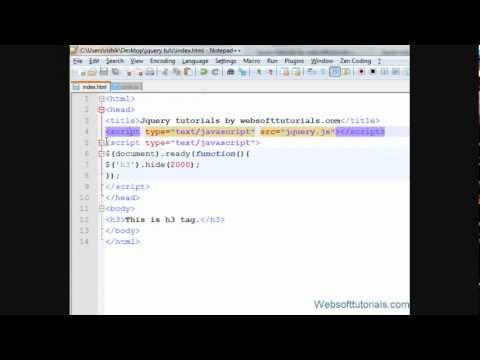 jquery tutorials for beginners - 5 - external jquery file