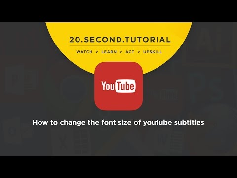 OLDIE: How to change the font size of Youtube subtitles: Youtube Tutorial #10