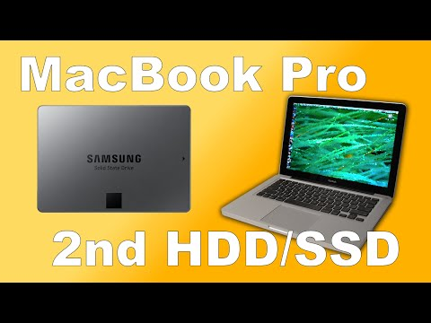 How To Add Second SSD/HDD In A Caddy To Replace Optical Drive MacBook Pro mid 2010