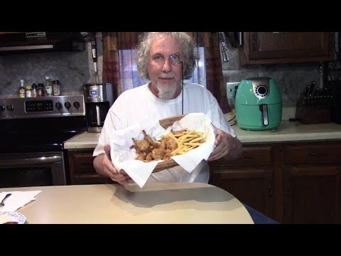 Air Fried Coconut Shrimp in the Basket