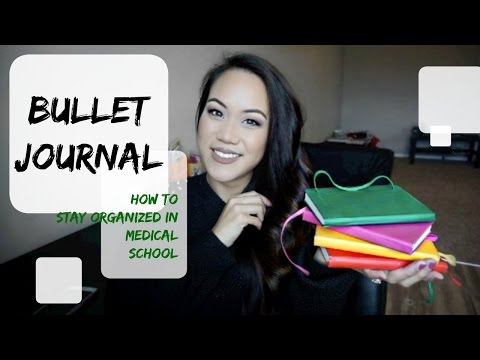 How To Stay Organized in Med School | Bullet Journal